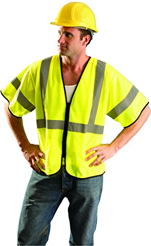 OccuNomix ECO-GCZ3-YS/M Value Mesh Standard Safety Vest, Class 3, ANSI Type R, Yellow, Small/Medium by OccuNomix (Image #2)