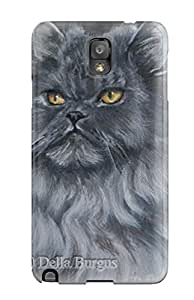 Hot 7639719K25373346 Defender Case For Galaxy Note 3, Persian Cats Pattern
