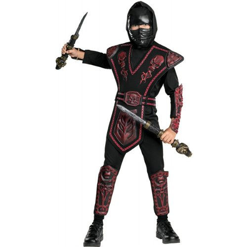 Red Skull Warrior Ninja Costume - Large (Red Skull Costume)