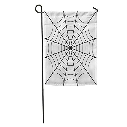 (Semtomn Garden Flag Spider of Cobweb Spiderweb Halloween Net Haloween Pattern Network Tattoo Home Yard Decor Barnner Outdoor Stand 12x18 Inches)