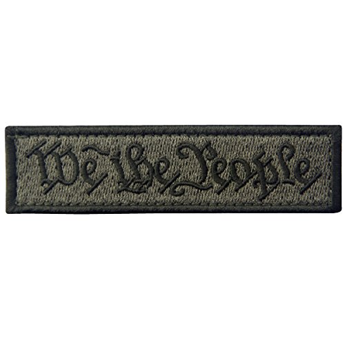 - We The People Tactical Embroidered Morale Applique Fastener Hook&Loop Patch - Olive Drab