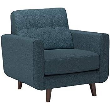 Amazon Com Rivet Jamie Mid Century Low Arm Accent Chair
