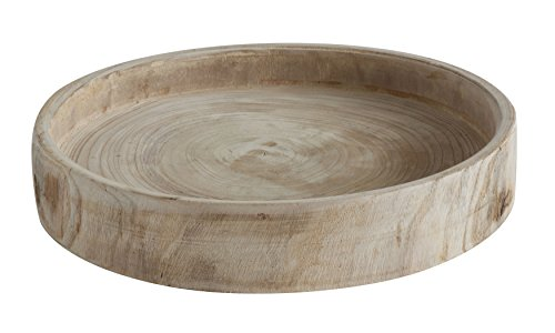 Creative Co-op DA6636 Paulownia Wood Hand Carved Tray