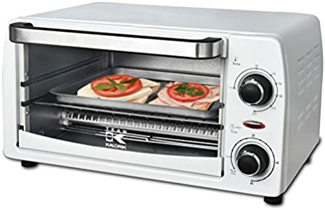 TKG OT 1025 W Kalorik - Minihorno para pizzas, toast Hawaii y baguettes, 9 L, 1050 W, color blanco