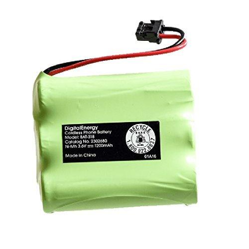 Digital Energy BAT 318 Cordless Phone Battery, 3.6 Volts, 12