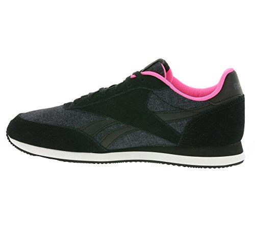 Reebok Royal Cl Jog 2lx - Zapatillas de deporte Mujer Negro (Black / Gravel / Poison Pink / White)