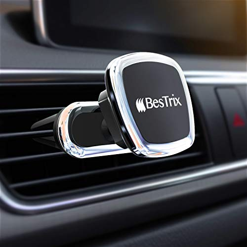 (Magnetic car Mount Universal car Vent Phone Holder Compatible with All Smartphones and Mini Tablets by)