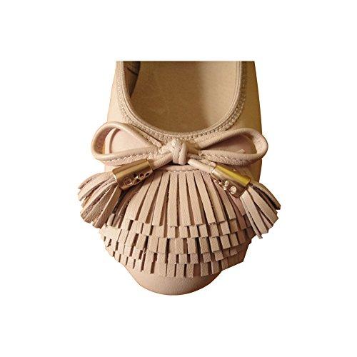 Cómodos de Cuero de las Ocasionales de la Manera Mocasines para mujer Buena Compra y no son Caros Para Zapatos Salvajes(Por favor pulse la imagen de la izquierda para determinar la longitud de pie) Rosa
