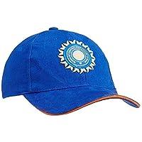 SHVAS Men's Cotton Sports Casual Cricket Cap Team India ODI   T20   IPL Supporter, Free Size [BCCICAPOWN] Black