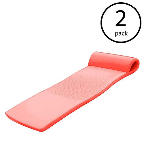 Texas Recreation Sunsation 70 Inch Foam Raft Lounger Pool Float, Caribbean Coral (2 Pack) by Texas Recreation (Image #7)
