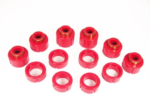 (Prothane 7-112 Red Body and Standard Cab Mount Bushing Kit - 12 Piece)