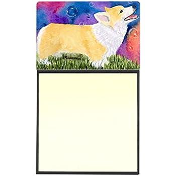 Multicolor Carolines Treasures SS8006SN Corgi Refillable Sticky Note Holder or Postit Note Dispenser 3.25 by 5.5