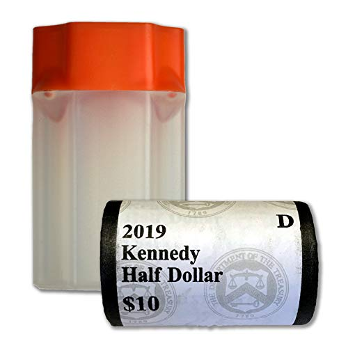 - 2019 D Kennedy Half Dollar US Mint Wrapped Roll Brilliant Uncirculated