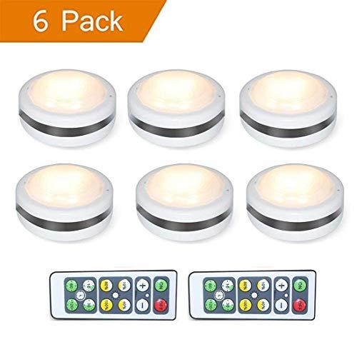 Wivarra Lámpara LED de Armario, Luz LED de Noche para Fijar en Cualquier Parte, Vestíbulo, Sótano, Garaje, Baño, Armario,...