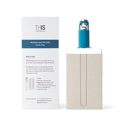 THIS TOOTHBRUSH Design MISWAK Cutter Pacific Blue incluye 2 cepillos de dientes MISWAK, cepillo tradicional