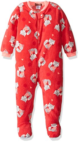 Price comparison product image Petit Lem Baby Girls' Printed Footed Pajamas,  Fox,  12M