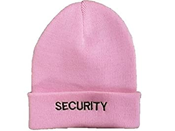 2c18d928a PolAmb Products LTD Pink SECURITY Woolly (Beanie) Hat Black ...