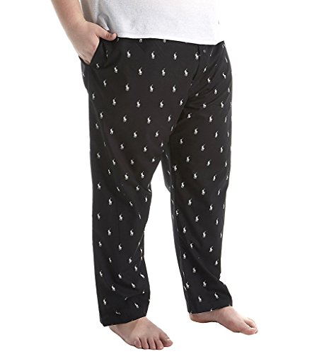 Polo Ralph Lauren  Men's Big PJ Pants Black/White Polo Player Pajama (Polo Pajama Pants)