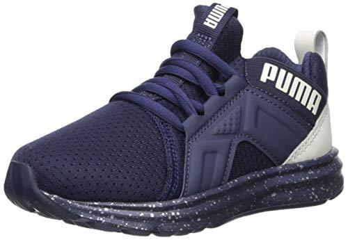 PUMA Enzo Tech Sneaker Peacoat-Glacier Gray 4 M US Big Kid ()