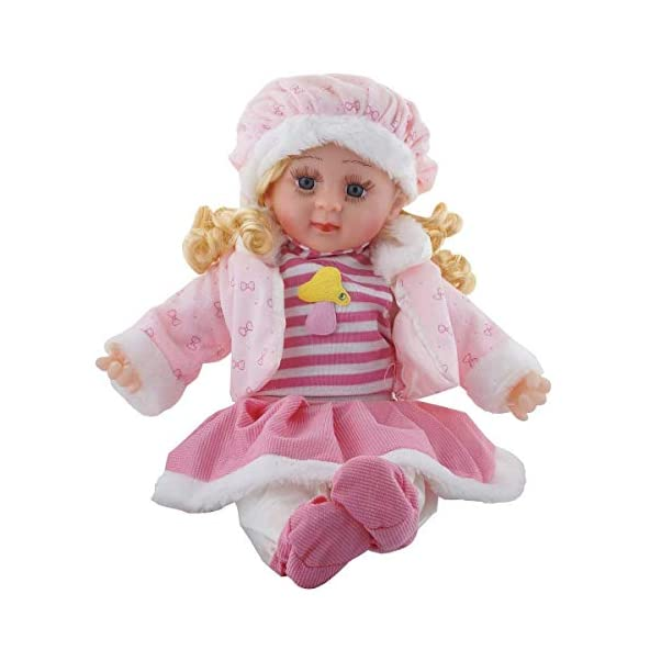 Abhsant Reborn Silicone Soft Baby Girl Musical Doll (Multicolour)