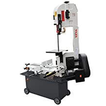 KAKA Industrial 7x12 Inch Metal Cutting Bandsaw, Solid Design Metal Bandsaw, Horizontal Bandsaw, High Precision Metal Band Saw, Build-In Safety Settings, Space Saver Metal Cutting Band Saw