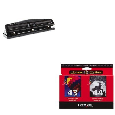 KITLEX18Y0372UNV74323 - Value Kit - Lexmark 18Y0372 Ink (LEX18Y0372) and Universal 12-Sheet Deluxe Two- and Three-Hole Adjustable Punch (UNV74323)