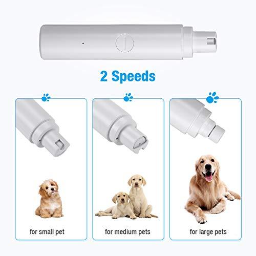 isYoung Krallenschleifer für Hund und Katze, Super Low Noise Nagelschleifer Haustier Nagelfeile mit USB Anschluß Zwei Geschwindigkeitsmodi