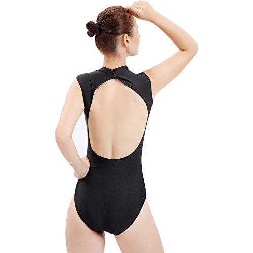 Gaibest Women's open back ballet leotard Yoga Gymnastics Leotards