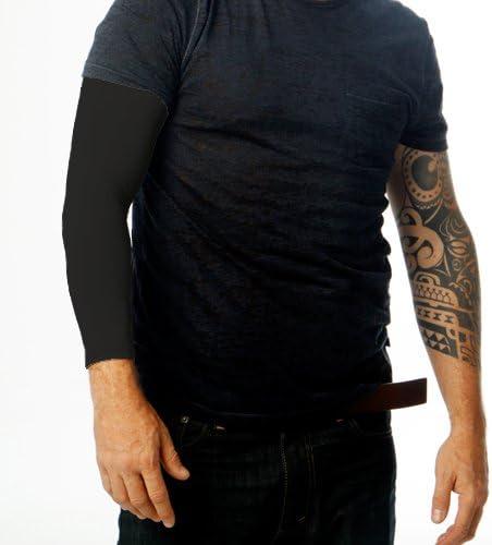 Amazon Com Tat2x Ink Armor Premium Full Arm Tattoo Cover Up Sleeve No Slip Gripper U S Made Black Xss One Sleeve Health Personal Care