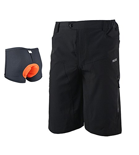 ARSUXEO Loose Fit MTB Shorts DH2 black With Padded Size XL