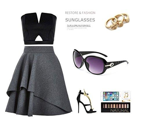 DLuxoMode Noir soleil de Femme Lunette ng4f1