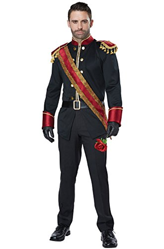 California Costumes Men's Dark Prince Adult Man Costume, Black/Burgundy -