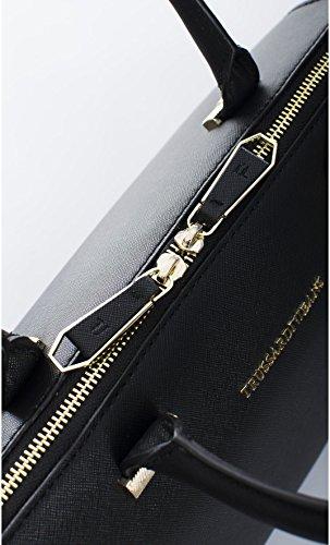 Trussardi Jeans | Borsa doctor Trussardi Jeans donna linea levanto colore nero - 75B493XX, Nero Nero