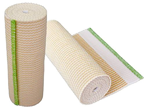 GT Cotton Elastic Bandage Roll w/Hook & Loop Closure On Both Ends (6