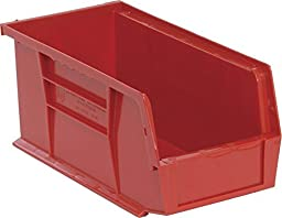 Quantum Storage QUS230RD Ultra Stack & Hang Bin, Red - 10.87 x 5.5 x 5 in.