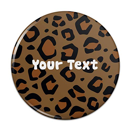 - Personalized Custom 1 Line Leopard Animal Print Kitchen Refrigerator Locker Button Magnet - 3