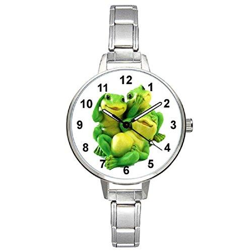 (Timest - Frogs - Womens Stainless Steel Italian Charms Bracelet Watch BM0356)