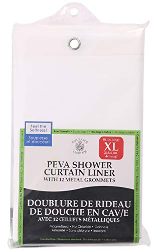 Extra Long PEVA Shower Curtain Liner 84
