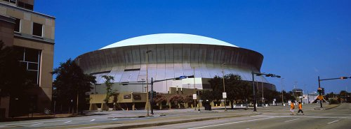 Superdome Sports - Walls 360 Peel & Stick Wall Murals: Louisiana Superdome New Orleans (72 in x 26.75 in)
