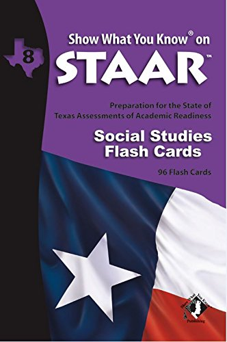 SWYK on STAAR Social Studies Flash Cards Gr 8 (Show What You Know on Staar)