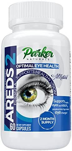 AREDS 2 Optimal Eye Health Eye Vitamin and Mineral Supplement by Parker Naturals. Packed with Vitamins C & E, Lutein, Zeaxanthin. Special NEI Tested Formula - 60 Day Supply