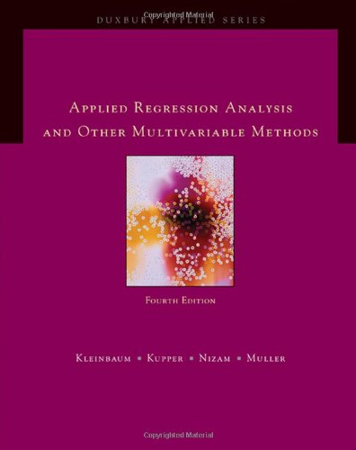 Applied Regression Analysis and Other Multivariable Methods (Duxbury Applied)