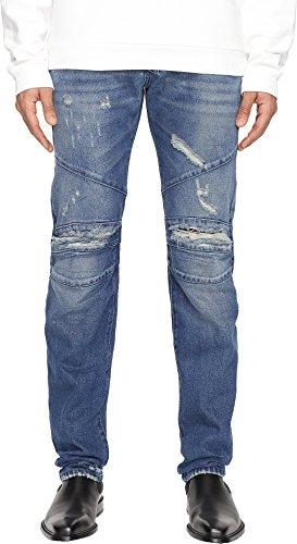 Pierre Balmain Men's Seamed Moto Jeans Blue - Men Balmain Shop