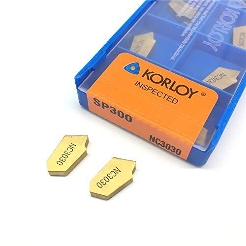 10pcs SP300 NC3030 CNC Carbide Insert Korloy NEW