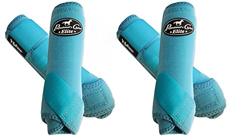 Professionals Choice Equine Sports Medicine Ventech Elite Leg Boot Value Pack, Set of 4 (Medium, Turquoise) by Professional's Choice (Image #1)