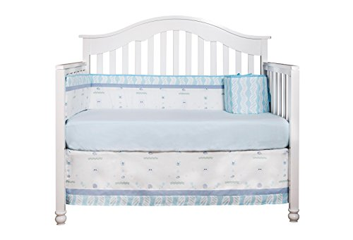 GEENNY OptimaBaby Ocean Sea Dolphin 6 Piece Baby Nursery Crib Bedding Set