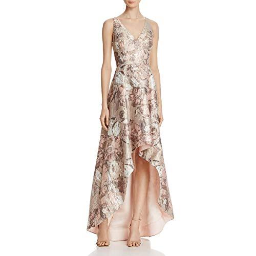 Aidan Mattox Womens Sleeveless Hi-Low Evening Dress Pink 8