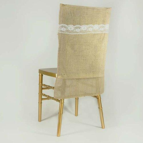 Efavormart All Natural Jute Burlap Chair Slipcover