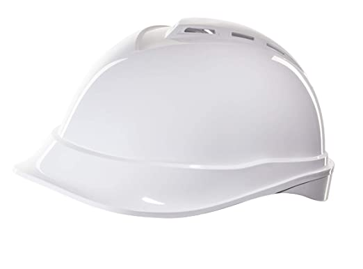Casco de Protección MSA V-Gard 200 con Ventilación y Ajuste por Trinquete FasTrack - Casco de Trabajo Casco de Seguridad Casco de Construcción, Color: ...