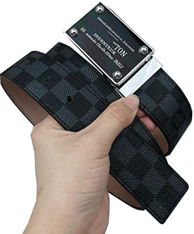 Black Square Belt Leather Business For Men / Black Square Belt Leather Business For Men